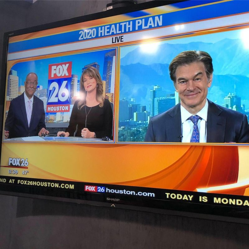Dr. Oz went on right before us!