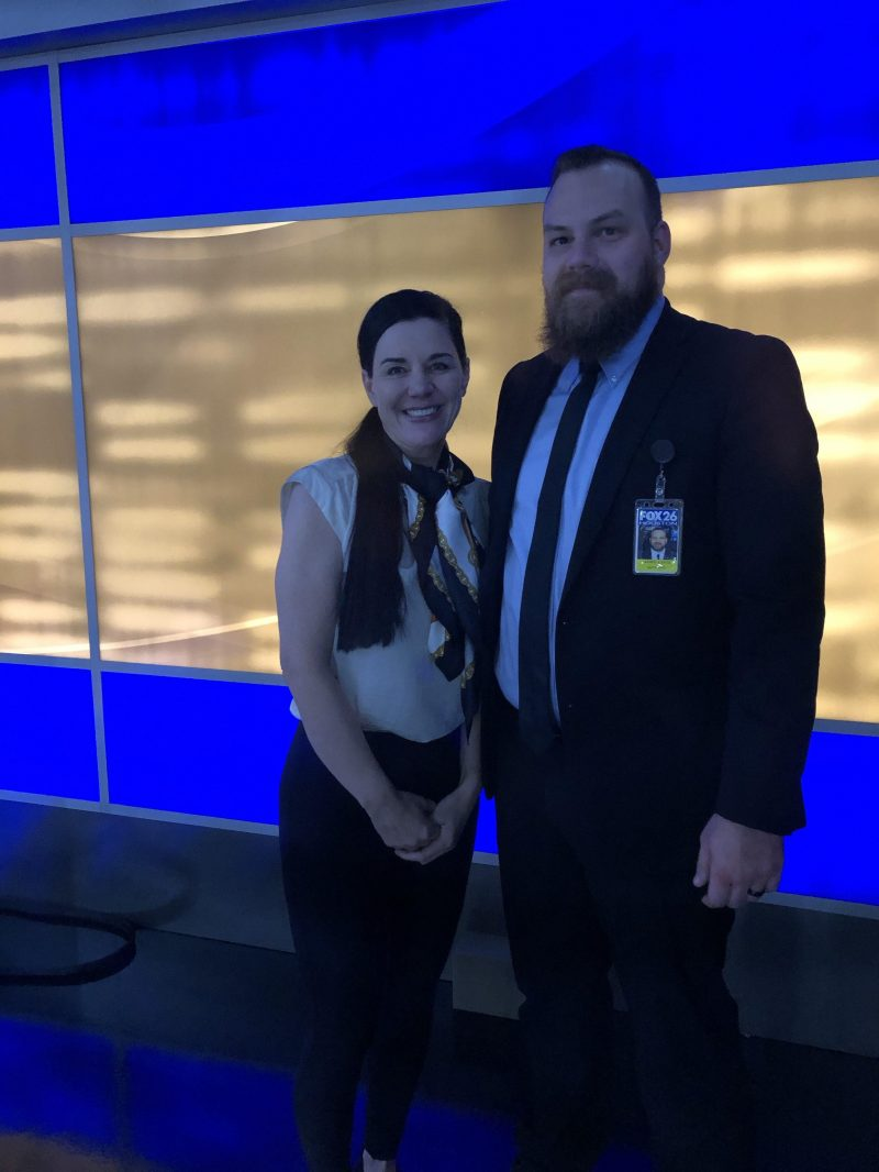 Security guard and Sonja