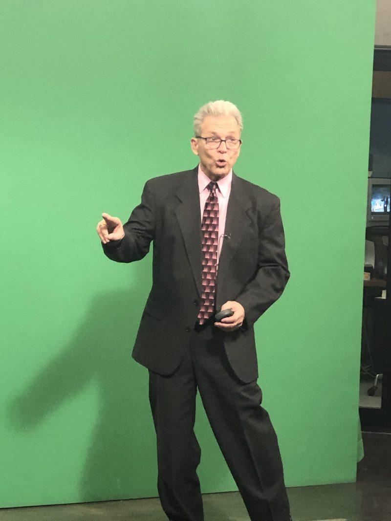 Weather Man on set