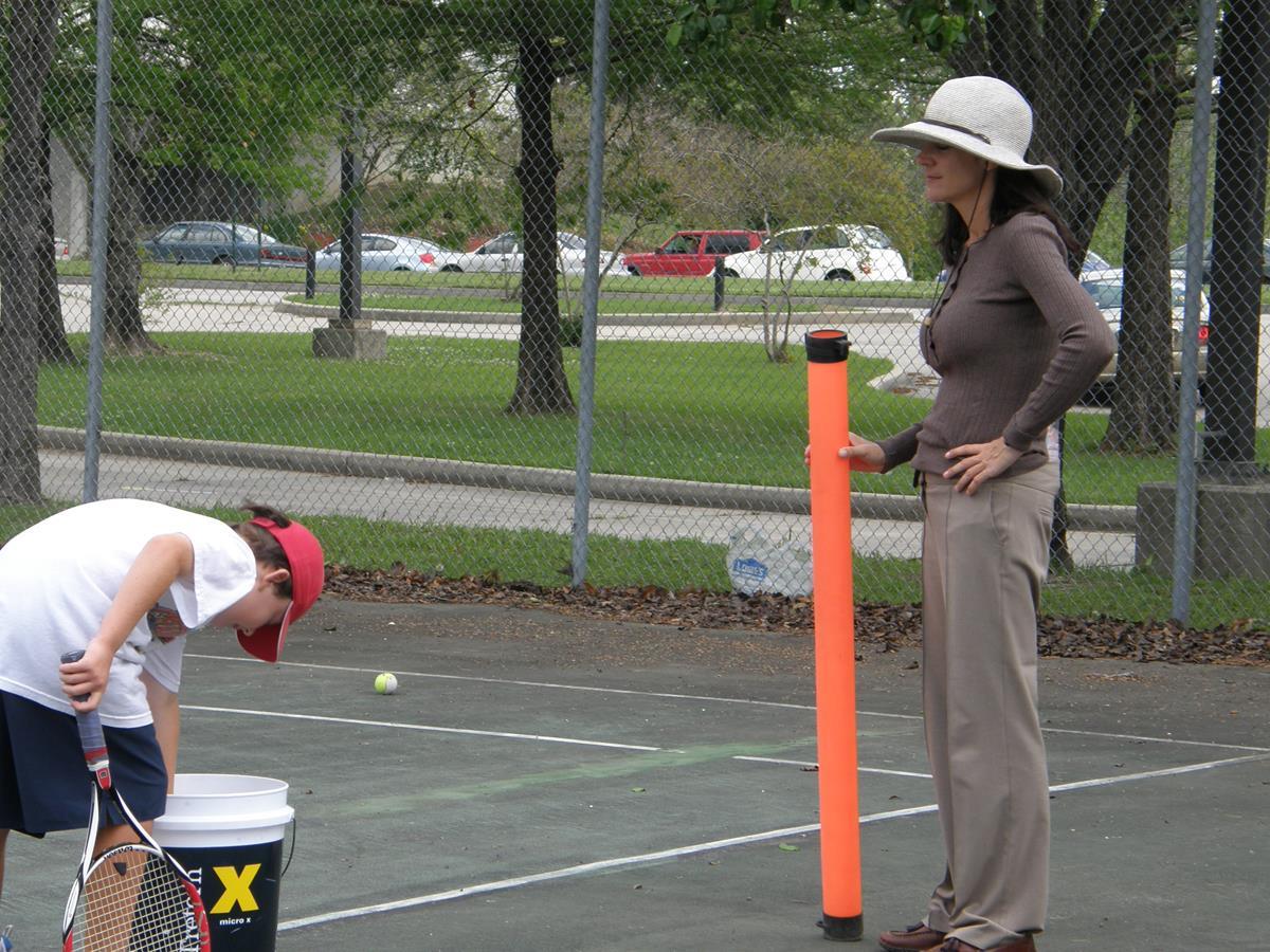 14. Picking Up Tennis Balls