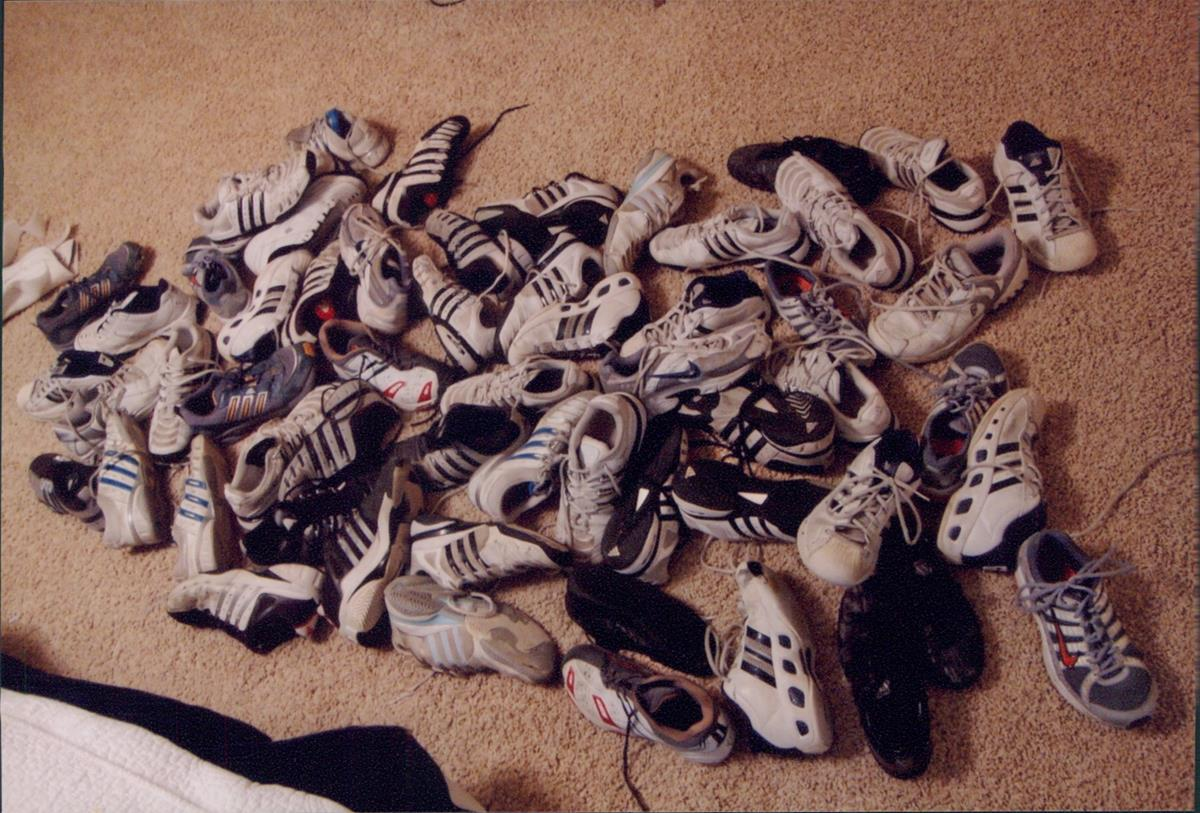 16. Worn out Tennis Shoes