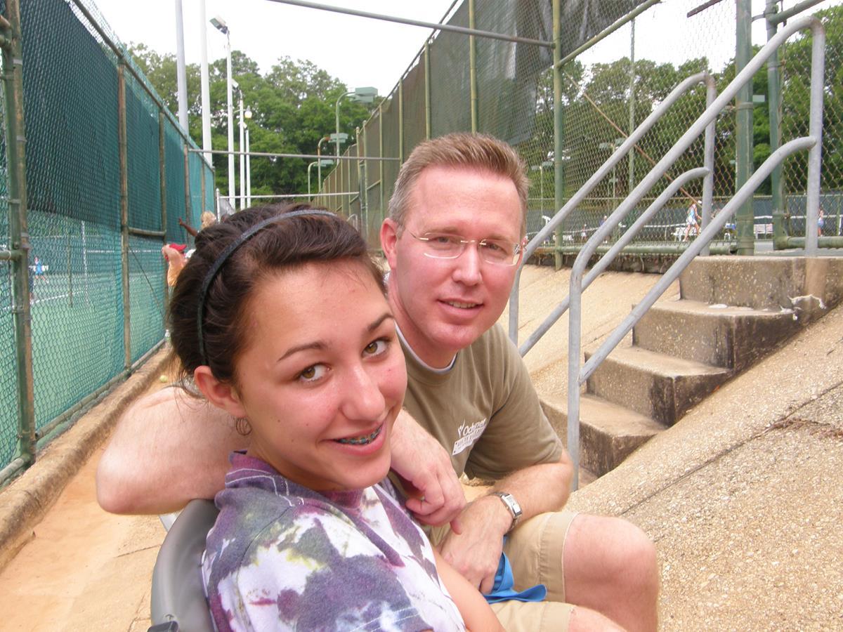 34. Mitch and Rachael watching Boy's Tennis Match
